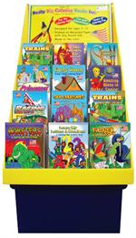 Travel Tablet Coloring Book Corrugate Display 144 books
