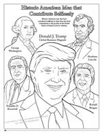 Donald Trump - Coloring Book Comic with Song - Historic Men